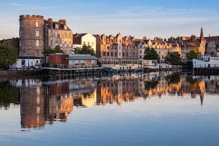 sunset-shore-leith-edinburgh-450w-493054978